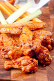 Bbq chicken wings. Oven roasted bbq chicken wings healthy baked instead of fried Stock Photography