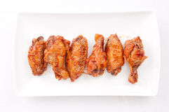 Bbq chicken wings. Oven roasted bbq chicken wings healthy baked instead of fried Royalty Free Stock Image