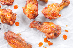 Bbq chicken wings. Oven roasted bbq chicken wings healthy baked instead of fried Stock Images