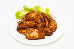 Bbq chicken wings on a plate Royalty Free Stock Image