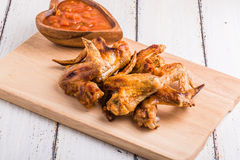 BBQ Chicken Wings with sauce Royalty Free Stock Photography