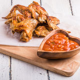 BBQ Chicken Wings with sauce Royalty Free Stock Image
