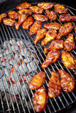 BBQ chicken wings Stock Photos