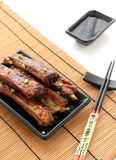 BBQ chinese ribs with Spicy Sauce Stock Image