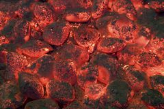 BBQ Coals Royalty Free Stock Image