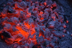 BBQ coals Royalty Free Stock Images