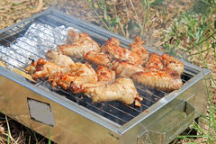 BBQ. Cooking meet Royalty Free Stock Photography