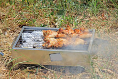 BBQ. Cooking meet on the open fire Royalty Free Stock Photos