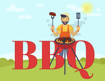 BBQ cooking party Royalty Free Stock Photos