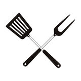 Bbq cooking utensils Royalty Free Stock Photography