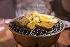 BBQ coréen dans le restaurant images stock