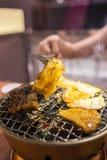 BBQ coréen dans le restaurant photographie stock libre de droits