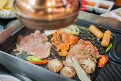BBQ coréen de porc photographie stock libre de droits