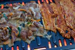 BBQ coréen de porc image stock