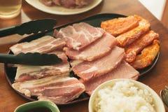 BBQ coréen de porc Photos libres de droits