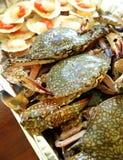 bbq crabs сырцовые продукты моря scallops Стоковая Фотография
