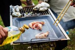 BBQ délicieux de crevettes Image libre de droits