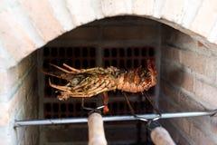 BBQ da lagosta fotos de stock