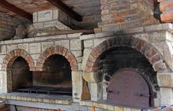 Bbq de la chimenea y horno. fotografía de archivo