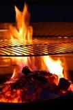 Bbq de la llama de la parrilla de la barbacoa Fotografía de archivo