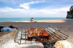 Bbq de la playa Imagenes de archivo