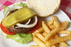 BBQ de Maaltijd van de Hamburger Stock Afbeelding