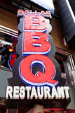 BBQ de restaurant dans NYC Photos libres de droits