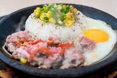 BBQ de rijst van de rundvleespeper Royalty-vrije Stock Fotografie