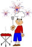 Bbq del cookout del 4 de julio Imagen de archivo libre de regalías
