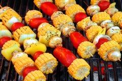 BBQ del vegetariano fotografie stock libere da diritti