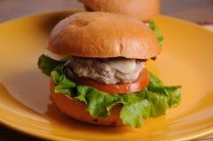 BBQ dell'hamburger del pollo Fotografie Stock