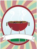 BBQ, der Hotdoghamburger kocht Stockbilder