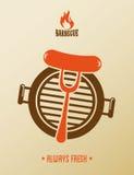Bbq-design vektor illustrationer