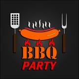 BBQ design card. Vector illustration. EPS 10 Stock Photo