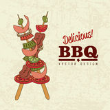 Bbq design Stock Photography