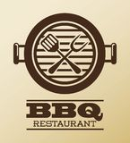 Bbq design. Over pink  background vector illustration Royalty Free Stock Photo