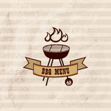 BBQ design wallpaper. Barbecue poster. Gril sign Stock Image