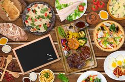 Bbq. Dinner buffet summer food grill grilled stock photo