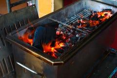 BBQ do carvão vegetal Imagens de Stock Royalty Free
