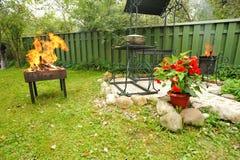 BBQ do quintal Fotos de Stock Royalty Free