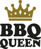 Bbq-drottning med kronan stock illustrationer