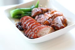 BBQ duck and pork Stock Photo