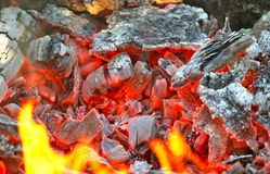 BBQ embers Stock Photography