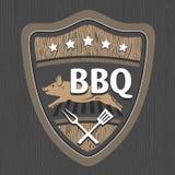 BBQ embleemontwerp Stock Foto's