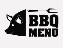 Bbq en grillmenuontwerp Stock Afbeeldingen