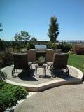 BBQ et patio Photo stock
