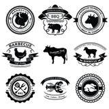BBQ etiketten Stock Afbeelding