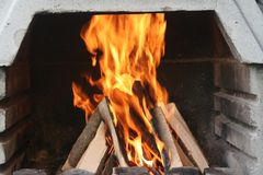 BBQ Fire. Image of barbecue's fire Royalty Free Stock Image