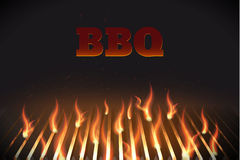 Bbq fire grille eps 10. Illustartion of bbq red fire grille eps 10 Royalty Free Stock Photography