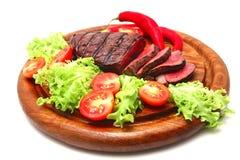 Bbq-Fleisch und Gemüse Lizenzfreie Stockbilder